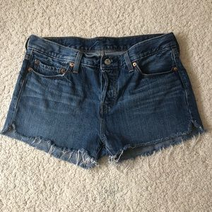 Levi's 501 High Waisted Cutoff Shorts
